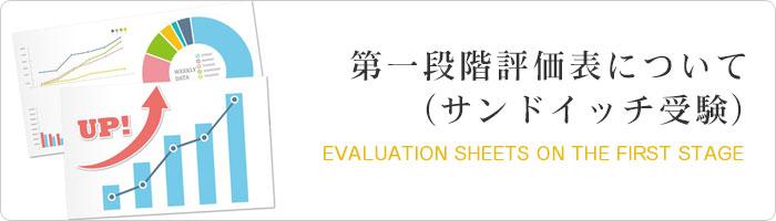 第一段階評価表について(サンドイッチ受験)